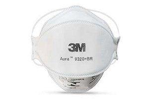 Respirador descartável PFF2 sem válvula Aura 9320 3M CA 30592 - Branco