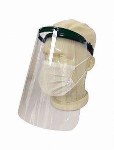 Protetor facial PETG transparente 0,5mm com testeira e elástico Dystray