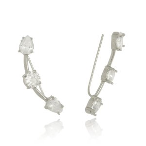 Brinco ear cuff  cristais