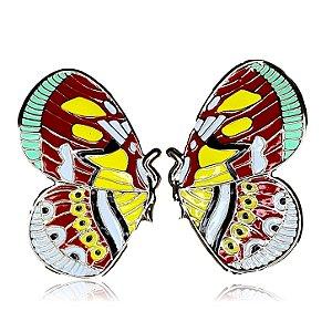 Brinco borboleta esmaltada