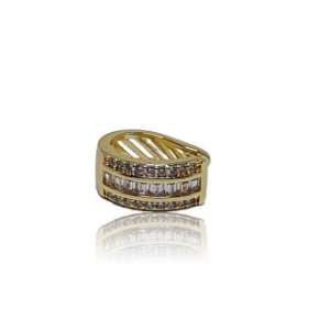Brinco piercing fake/falso dourado