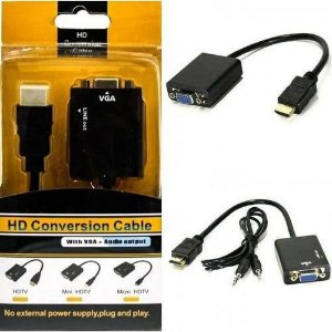 Adaptador HDMI Para VGA HD - Conversion Cable
