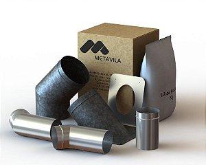 kit de instalação para Fogão a lenha | 110mm Inox -  LIV003