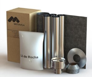 kit de instalação para Calefator | 150mm Inox -  LIV002