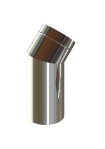 Curva Longa (45º) inox 110mm em aço Inox