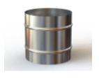 Inversor Bitola 150mm em aço inox
