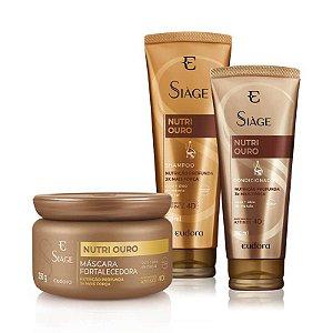 Kit Shampoo Condicionador Máscara Força Nutrição Nutri Ouro