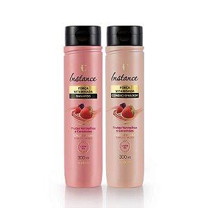 Kit Instance Frutas Vermelhas Shampoo e Condicionador Eudora