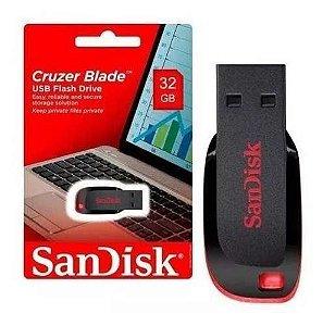 Pen Drive 32gb Sandisk Original Lacrado + Cabo Hdmi