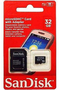 Cartão De Memória Micro Sd 32gb Lacrado