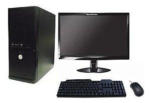 Computador C2d 4gb Hd 500gb Monitor Lcd 19'' Teclado Mouse
