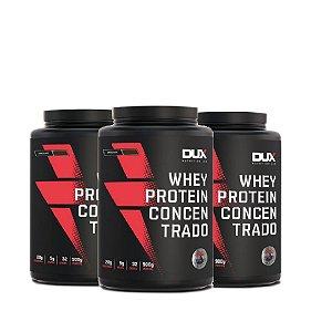 WHEY CONCENTRADO DUX (900G) - COMPRE 2 E GANHE 50% NO TERCEIRO