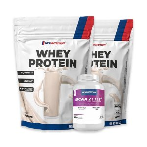 WHEY PROTEIN (900g) - NEW NUTRITION + BCAA 2:1:1 (120cps)