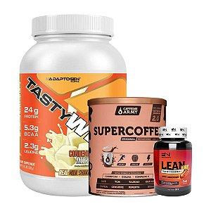 TASTY WHEY (900g) + SUPERCOFFEE (220g) CAFFEINE ARMY + LEAN FIRE (60cps) EMPIRE NUTRITION