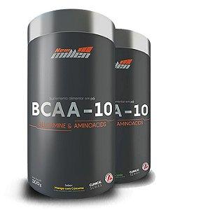 BCAA -10 GLUTAMINA E AMINOÁCIDOS  (300g) 2 UN - NEW MILLEN