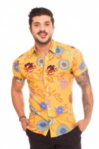 Camisa Viscose Tropical