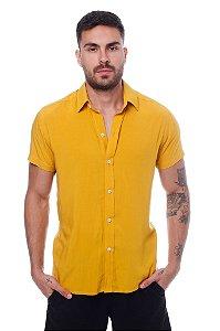 Camisa Viscose Mostarda