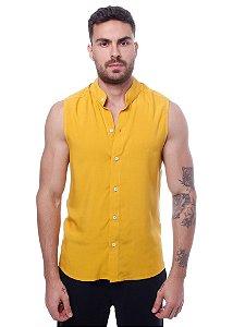 Camisa Viscose Machão Mostarda