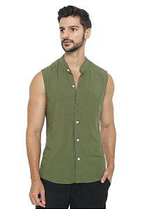 Camisa Viscose Machão Verde Militar