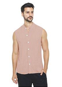 Camisa Viscose Machão Rosa Seco