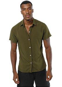 Camisa Viscose Verde Militar