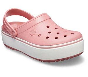Sandália Crocs Crocband Platform Clog - Blossom/White