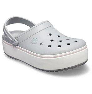 Sandália Crocs Crocband Platform Clog - Light Grey