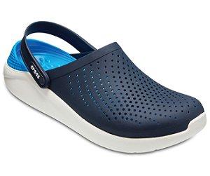 Sandália Crocs LiteRide™ Clog - Azul Marinho/Branco