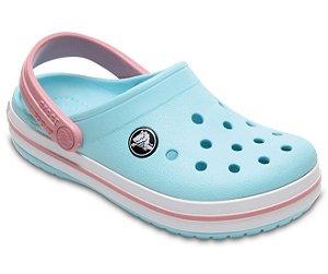 Sandália Crocs Infantil Crocband™ Clog - Ice Blue/White