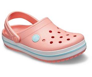 Sandália Crocs Infantil Crocband™ Clog - Melon/Ice Blue