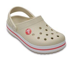 Sandália Crocs Infantil Crocband™ Clog - Stucco/Melon