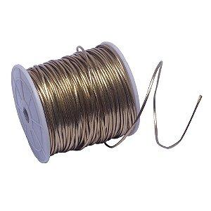 Couro Fio Sintético Dourado 2 mm - Rolo de 50 metros