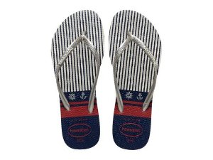 Havaianas Slim Nautical - Branco/Prata