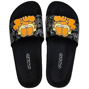 Chinelo Zaxy Lazy Garfield Slide - Preto