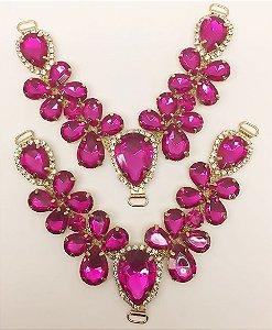 Cabedal V Chaton Rosa Pink - Par
