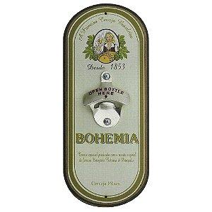 Abridor de cerveja de parede oval - Cerveja Bohemia