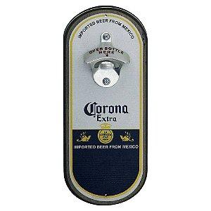 Abridor de cerveja de parede oval - Cerveja Corona