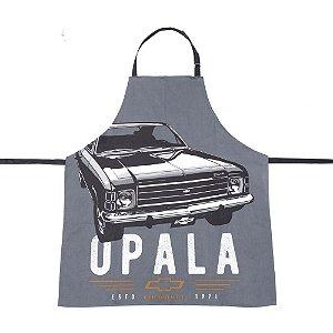 Avental vintage GM Opala 1971 cinza em algodão