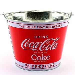 Balde de gelo Coca-cola logo vermelho / prata