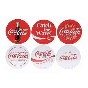 Conjunto 6 porta copos em cortiça Coca-cola Classic vermelho