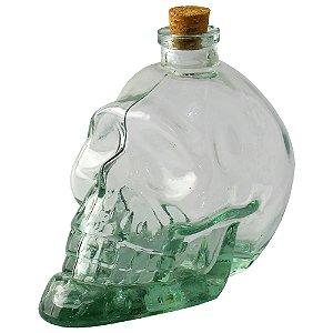 Garrafa Crânio de Caveira pequena em vidro