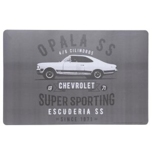 Jogo Americano GM Opala Vintage cinza 43,5x28,5