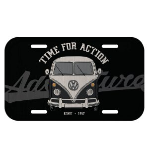 Placa decorativa carro VW Kombi Vintage preto