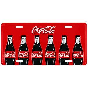 Placa decorativa de carro Coca-cola Bottles vermelho