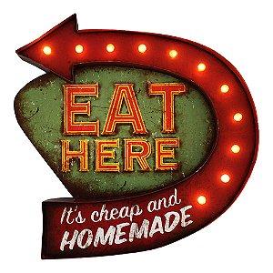 Luminária decorativa Eat Here