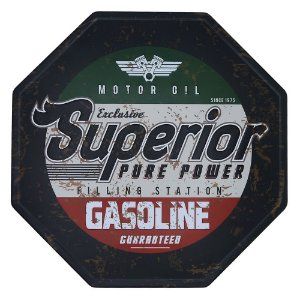 Placa decorativa Superior Gasoline