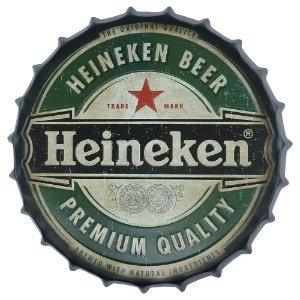 Tampa decorativa cerveja Heineken