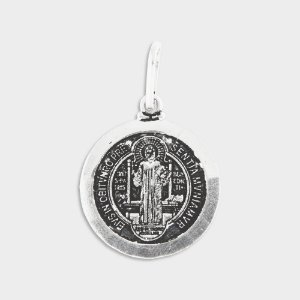 Pingente São Bento em Prata 925