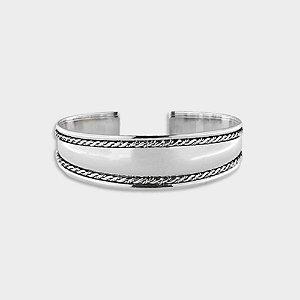 Bracelete Rústico em Prata 925