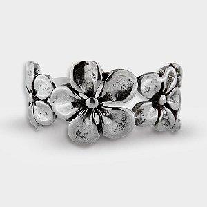 Anel Flores em Prata